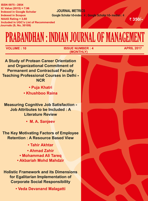 Indian Journal of Management April