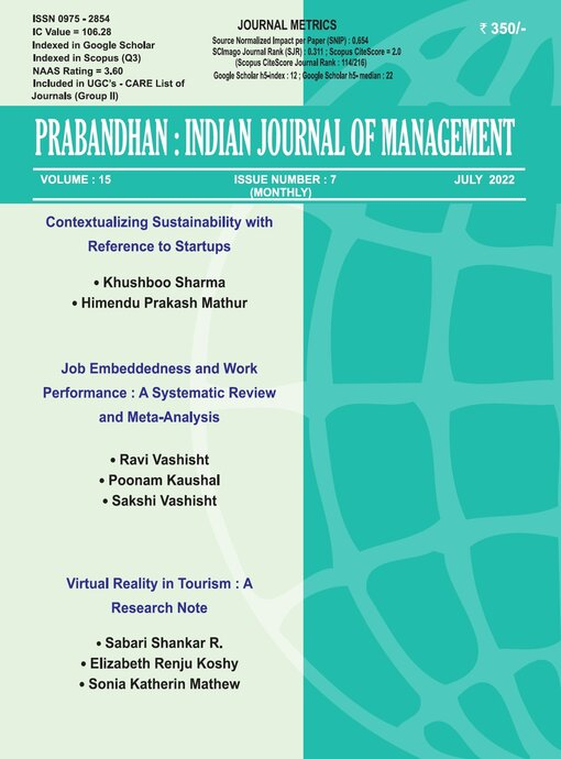 Prabandhan: Indian Journal of Management
