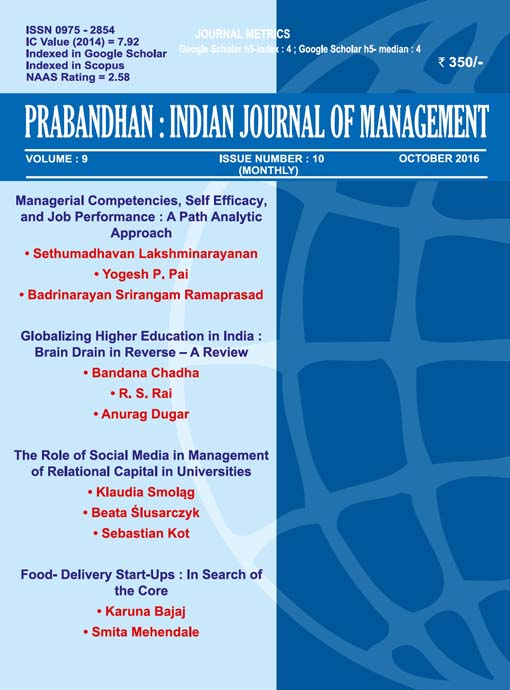 Indian Journal of Management October